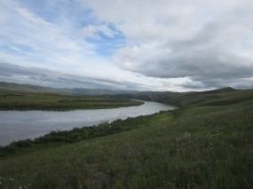 Обои Забайкалье река Онон: Река, Природа, Лето, Вода и небо