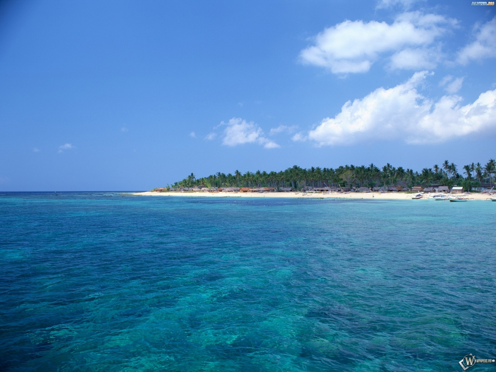Обои остров в море море остров 1600x1200