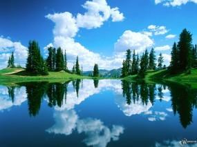 Обои Красивый вид: Облака, Вода, Китай, Вода и небо
