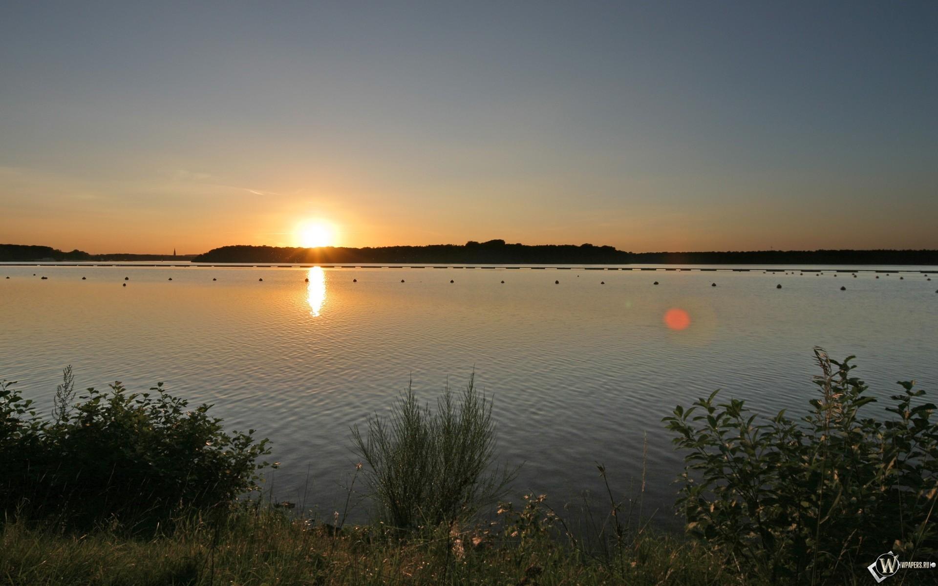 Рассвет над рекой 1920x1200