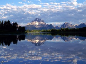 Обои Небо в горной реке: , Вода и небо