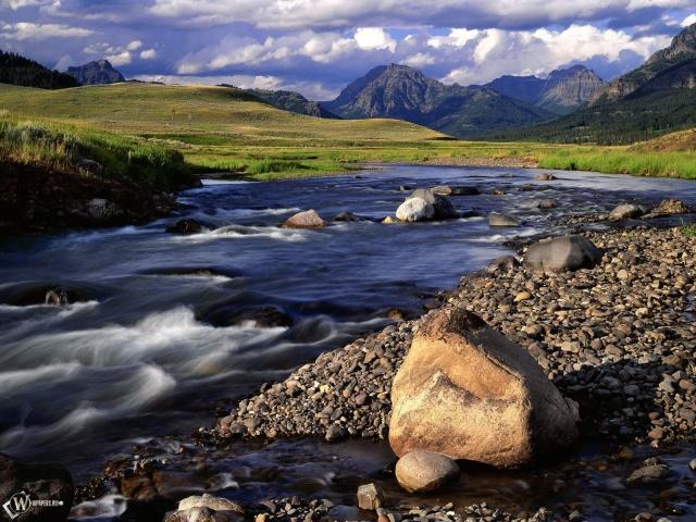 Ручеек в горах