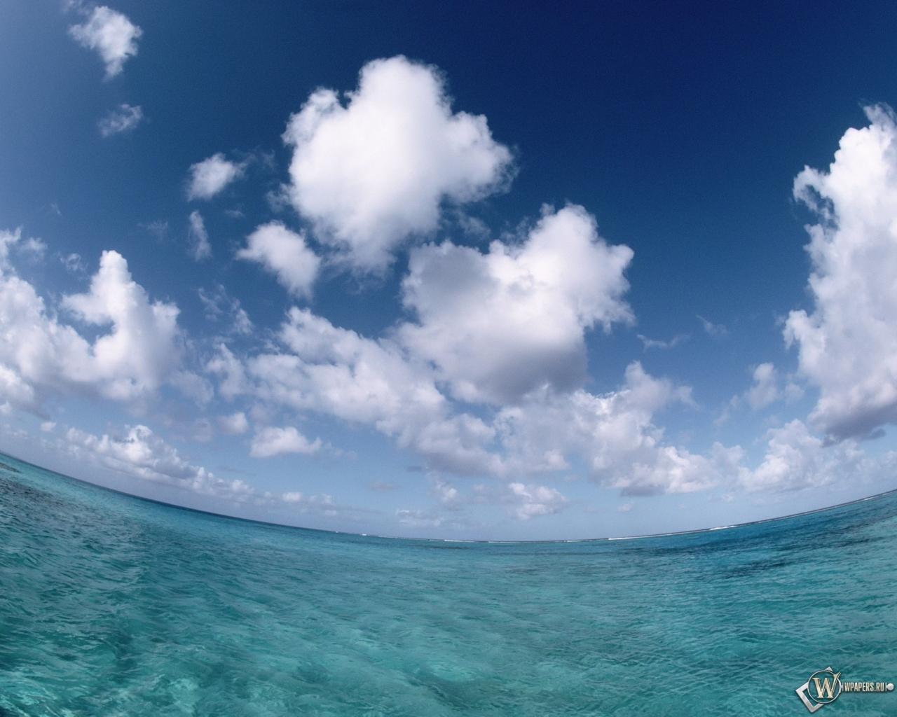 Обои море небо облака облака море