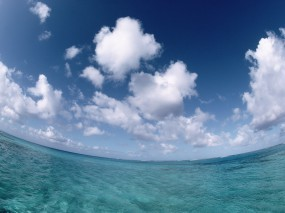 Обои Море - Небо - Облака: Облака, Море, Небо, Вода и небо