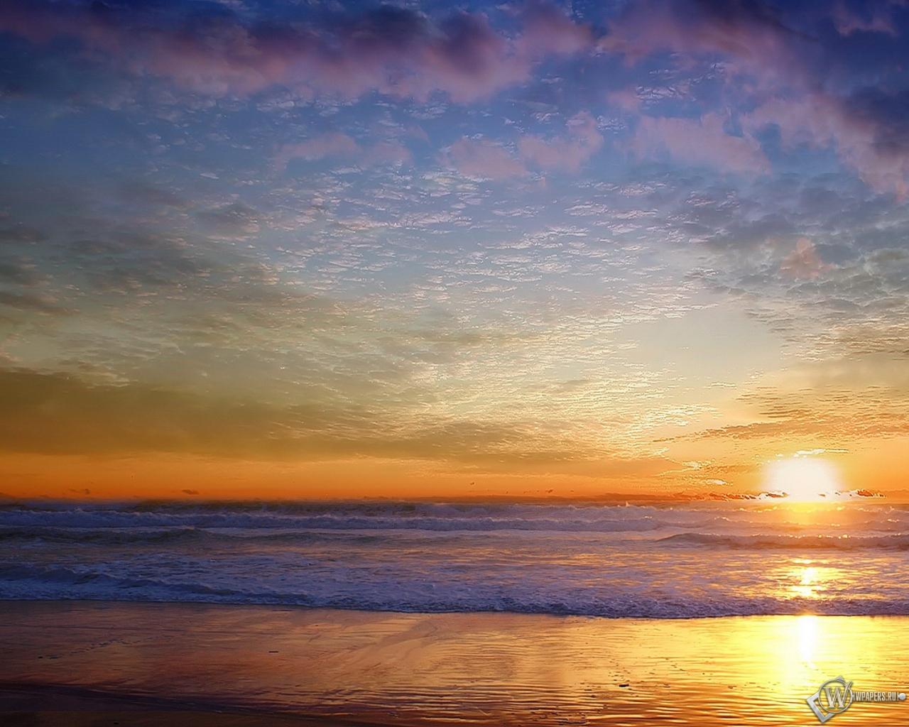 Морской пейзаж 1280x1024