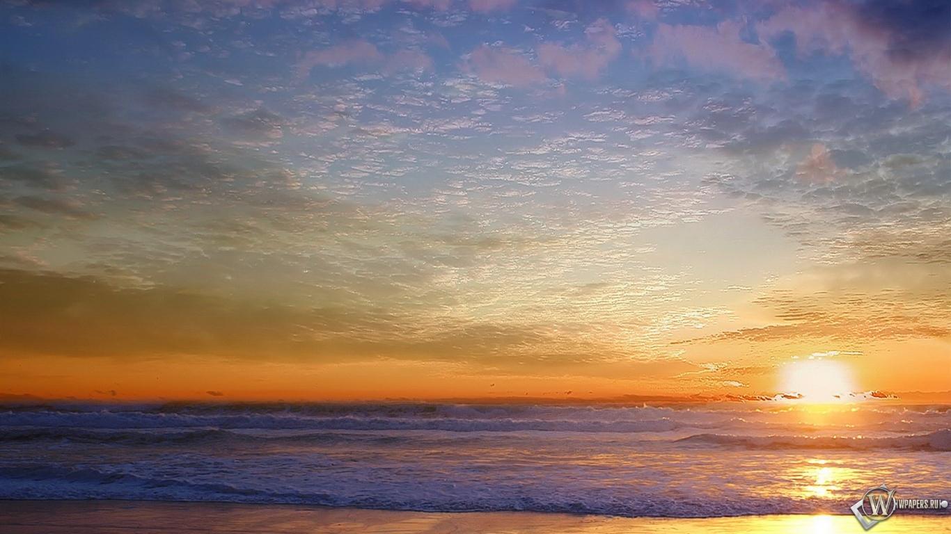 Морской пейзаж 1366x768