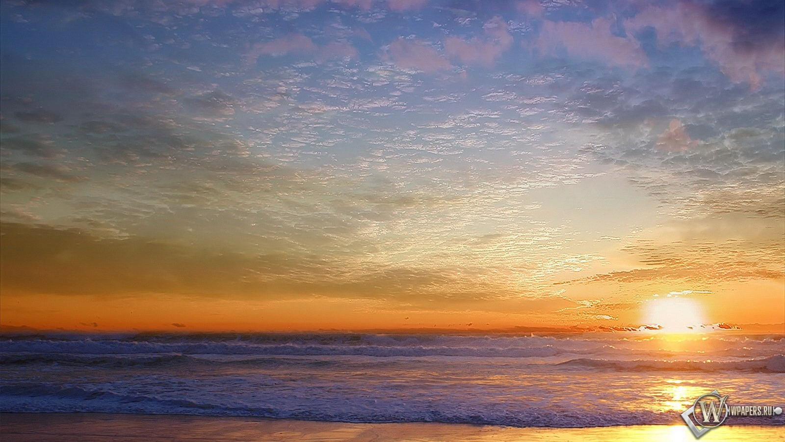 Морской пейзаж 1600x900
