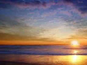 Обои Морской пейзаж: Облака, Море, Солнце, Небо, Вода и небо