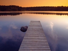 Обои Пустой пирс: Вода, Relax, Пирс, Спокойствие, Гармония, Вода и небо