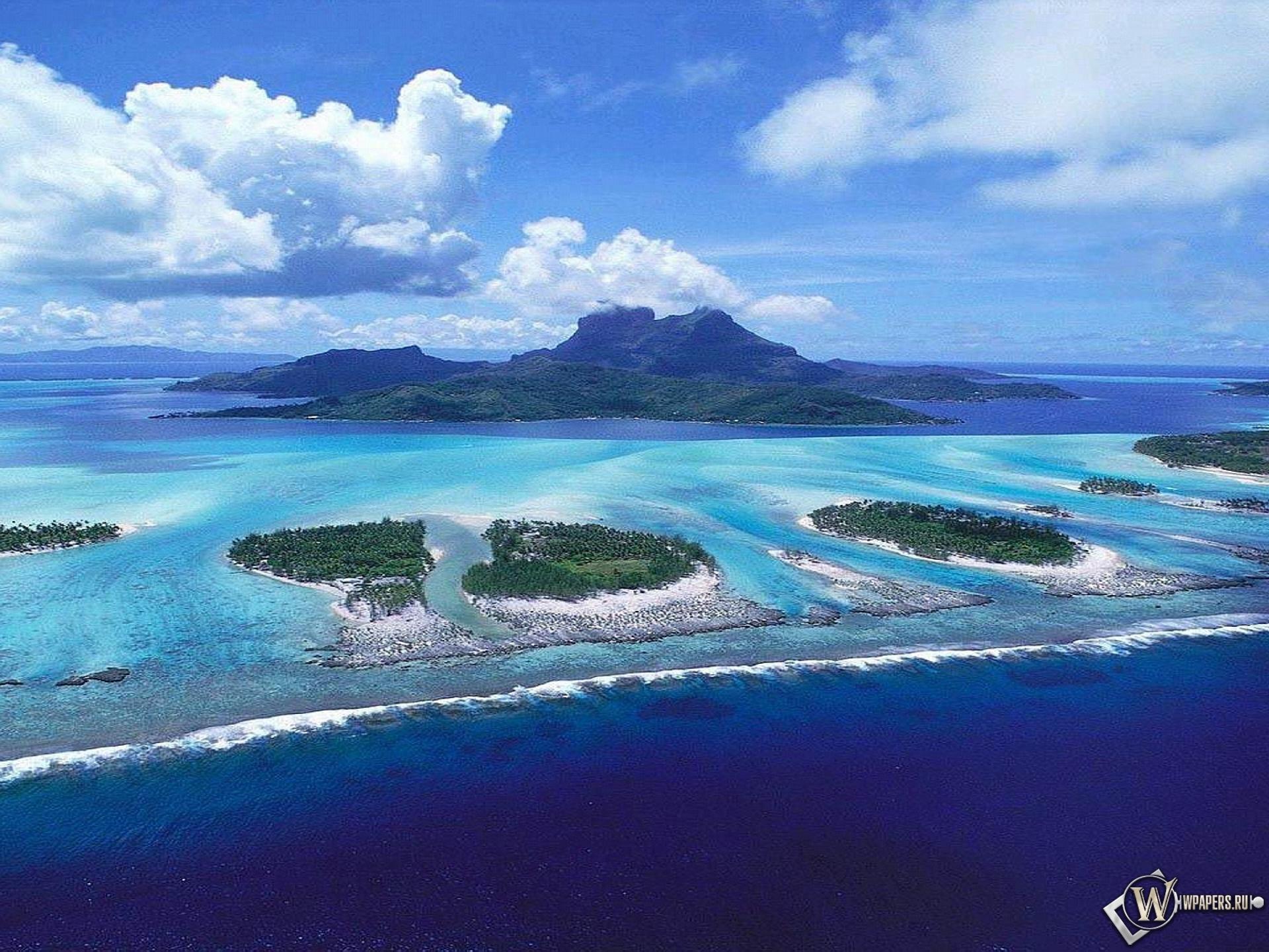 Обои острова вода природа море