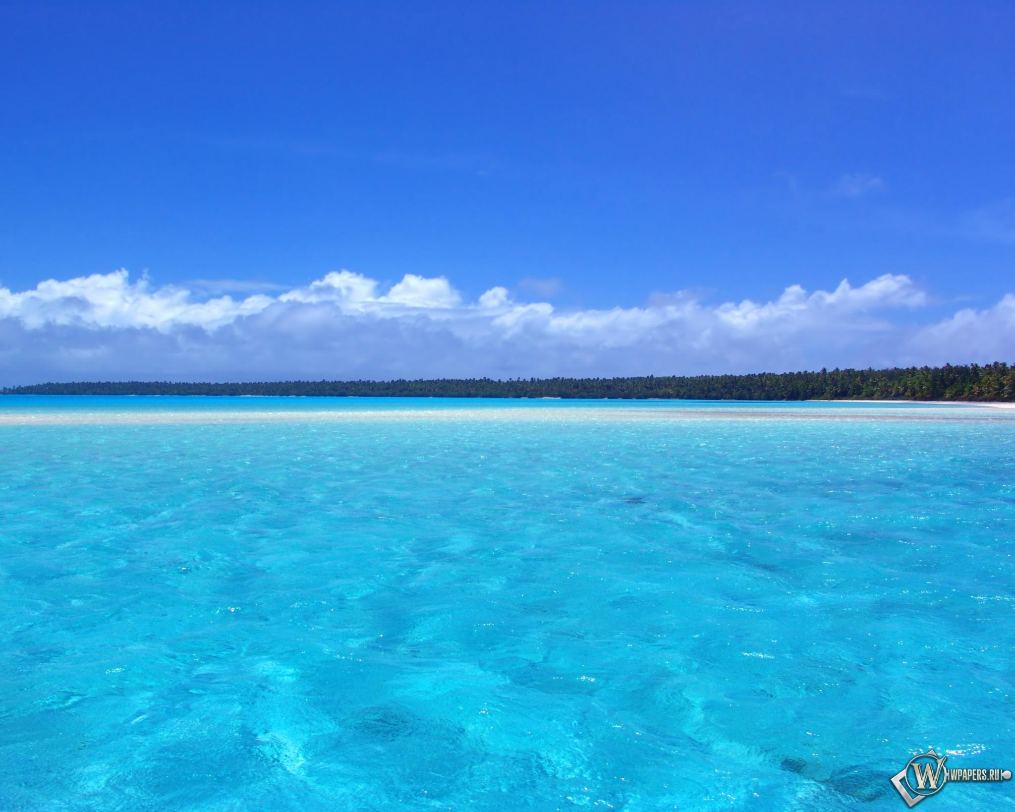 Обои голубой океан океан небо