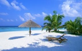 Обои Экзотический рай: Пляж, Море, Рай, Мечта, Небо, Relax, Курорт, Вода и небо