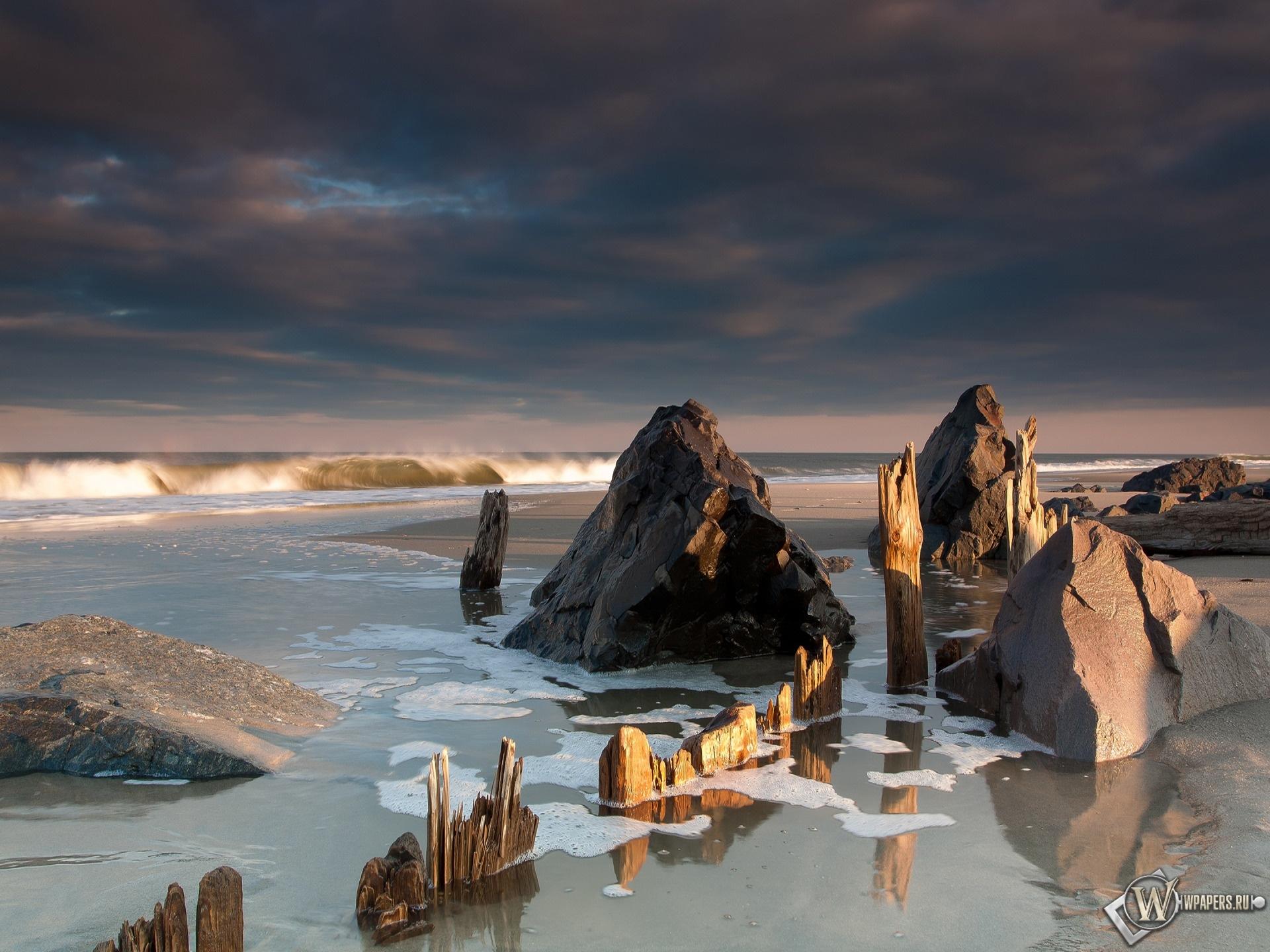 Морской пляж 1920x1440