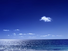 Обои Морской горизонт: Море, Горизонт, Облако, Вода и небо