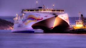Обои HSC Condor Vitesse: Море, Судно, катамаран, Корабли