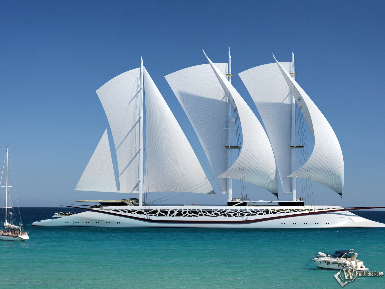 Судно море яхта 1600x1200 картинки