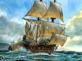 Обои После морского боя: , Корабли