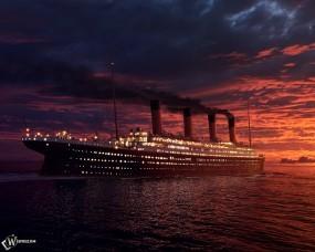 Обои Огни Титаника: , Корабли