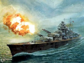Обои корабль бисмарк военный корабль