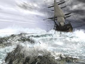 Обои Корабль и бушующее море: , Корабли