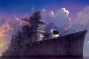 Обои Военный Корабль: Военный корабль, Пушки, Корабли