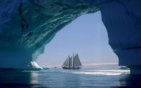 Обои Арктический парусник: Парусник, Арктика, Корабли