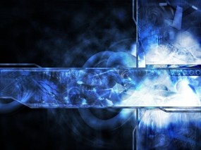 Обои синяя абстракция: Абстракция, Дизайн, Интерфейс, 3D Графика