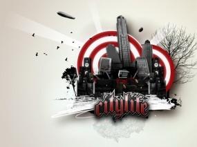 Обои Citylife: Город, Рисунок, Клуб, 3D Графика