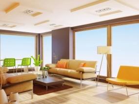 Обои Летний интерьер: Квартира, Мебель, интерьер, 3D Графика