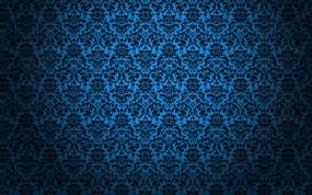 Обои Чёрное кружево: Синий, Текстура, 3D Графика
