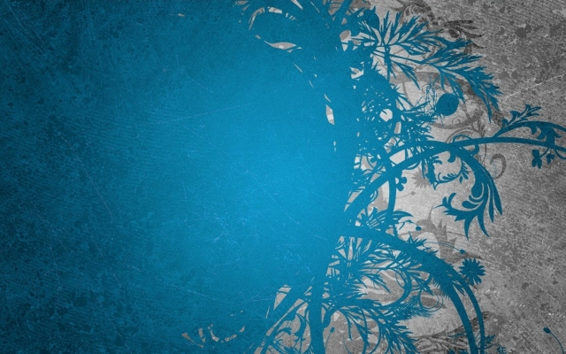 Синие узоры
