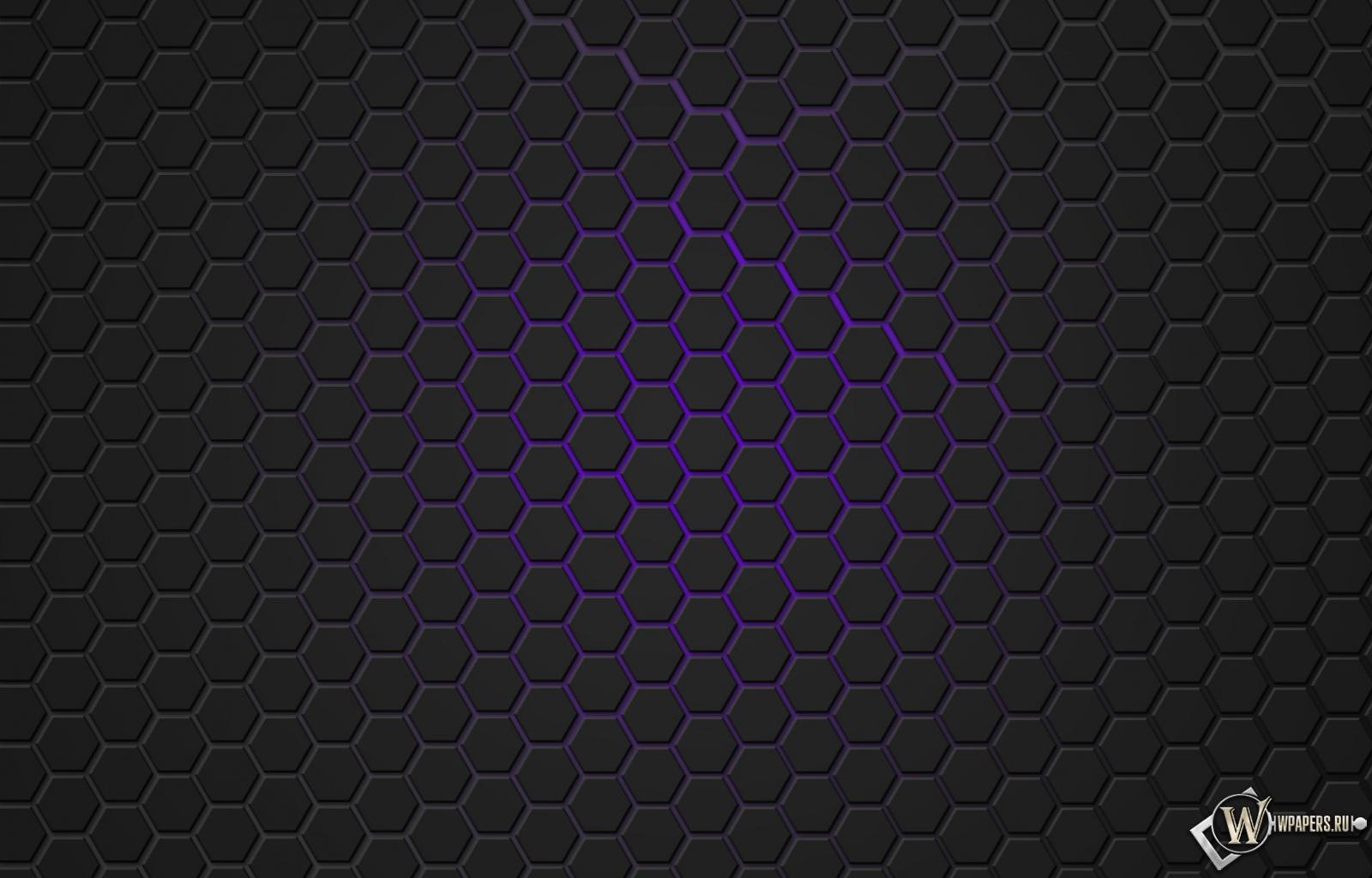 Фиолетовая гексагональная решётка 1600x1024