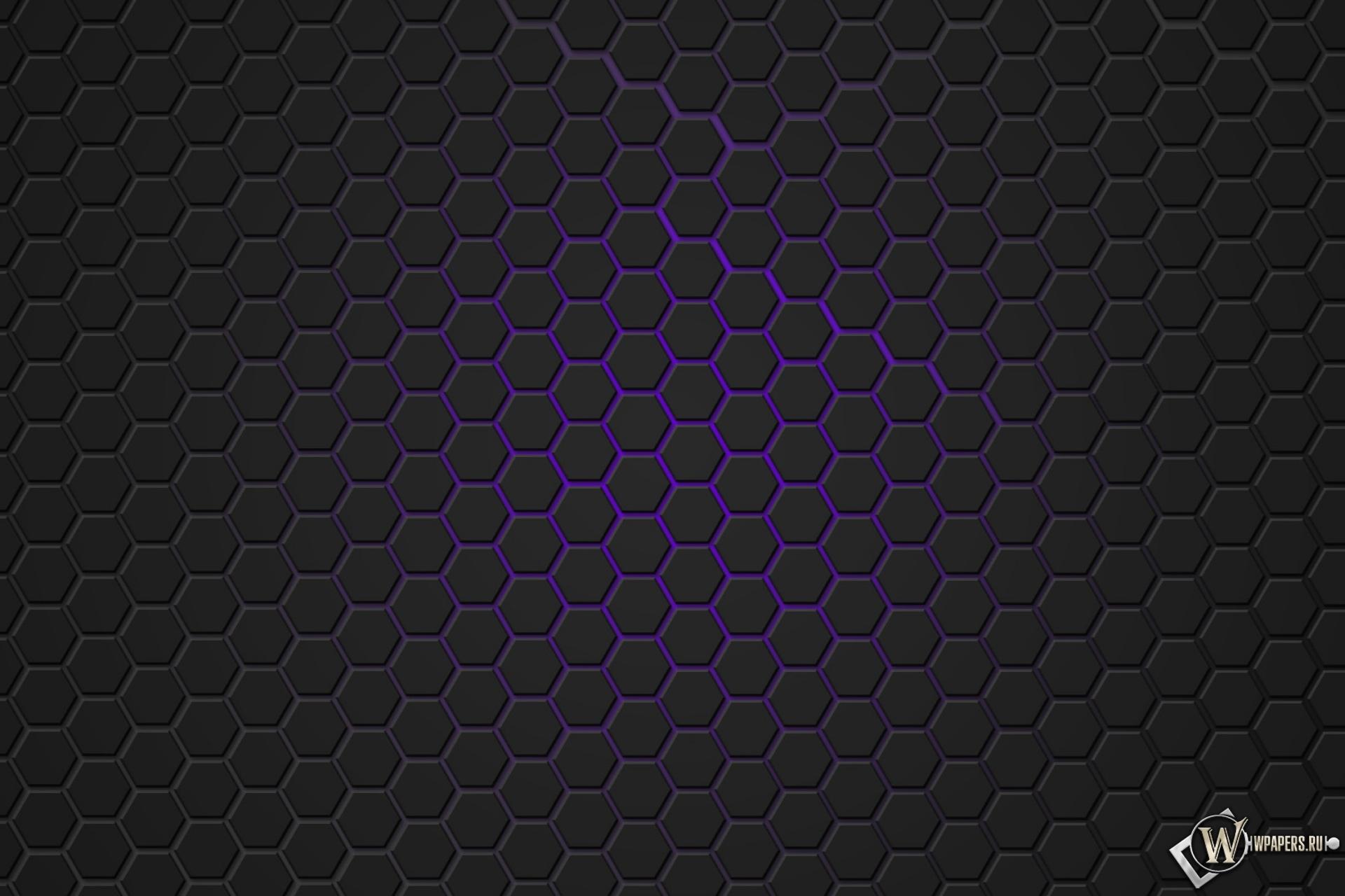 Фиолетовая гексагональная решётка 1920x1280