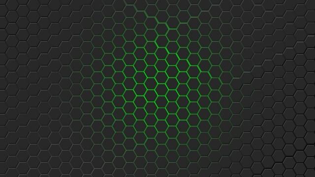 Зелёная гексагональная решётка