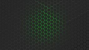 Обои Зелёная гексагональная решётка: Решетка, Зелёный, гексагон, 3D Графика
