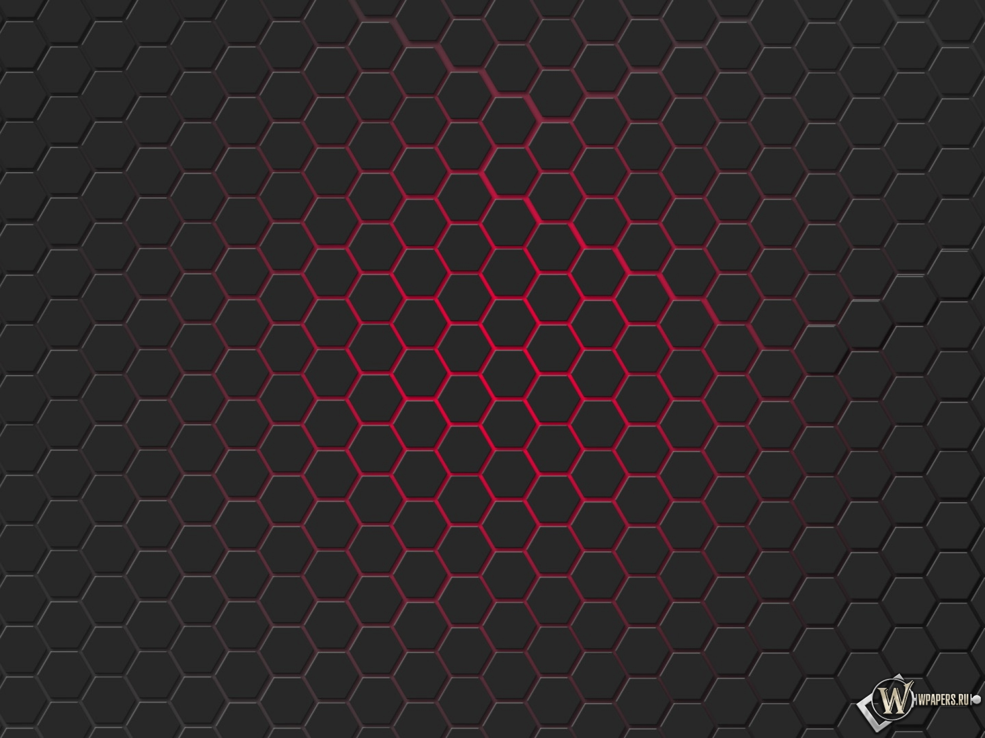 Красная гексагональная решётка 1920x1440
