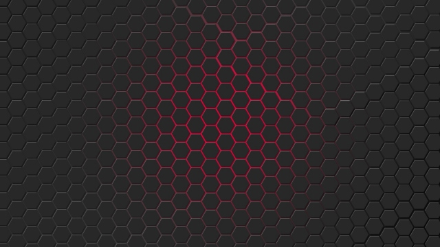 Красная гексагональная решётка