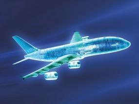 Обои Эскиз самолета: 3D, Модель, Самолёт, Эскиз, 3D Графика