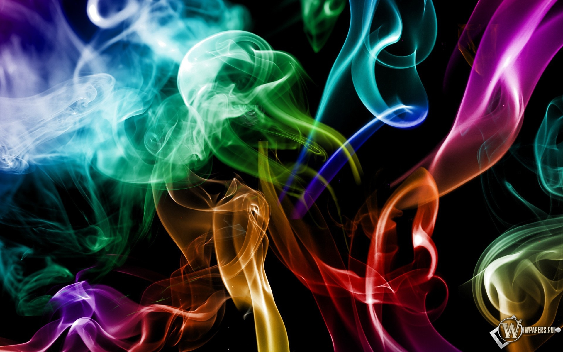 Разноцветный дым 1920x1200