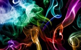 Обои Разноцветный дым: Цвета, Дым, Абстракции