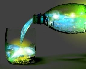 Обои Абстракция вселенной: Стакан, Вселенная, Бутылка, Абстракции