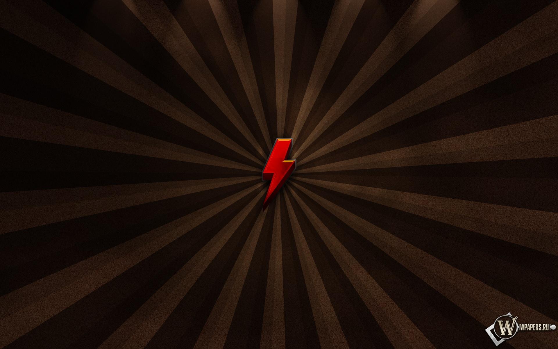 Красная молния 1920x1200