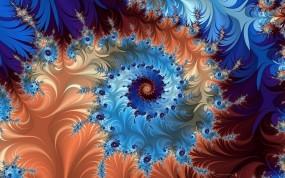Обои Фрактальное завихрение: Цвет, Фрактал, Абстракции