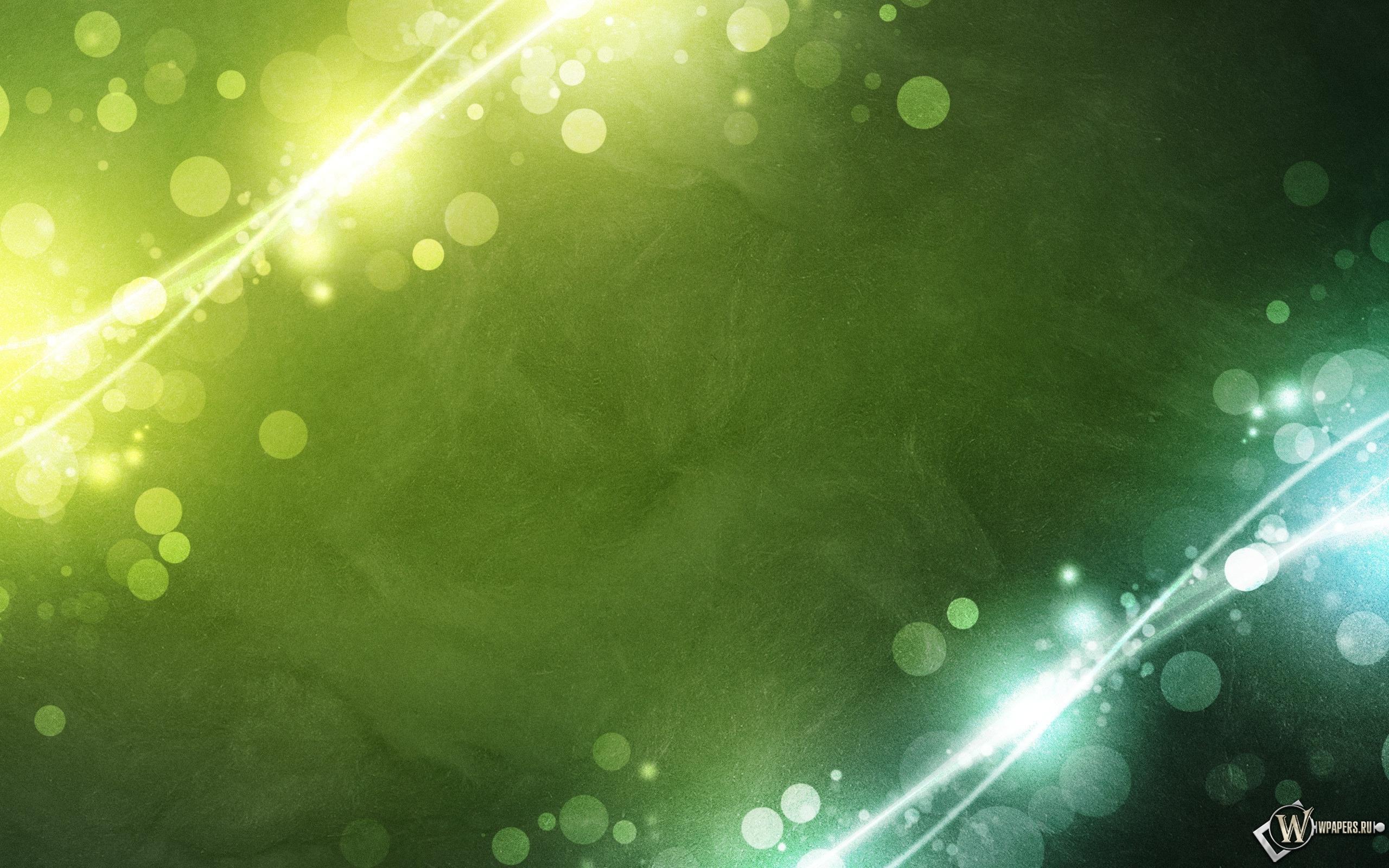 Зелёные пузыри 2560x1600