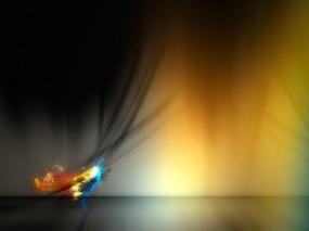 Обои Aurora: Цвета, Синий, Чёрный, Красный, Желтый, Абстракции