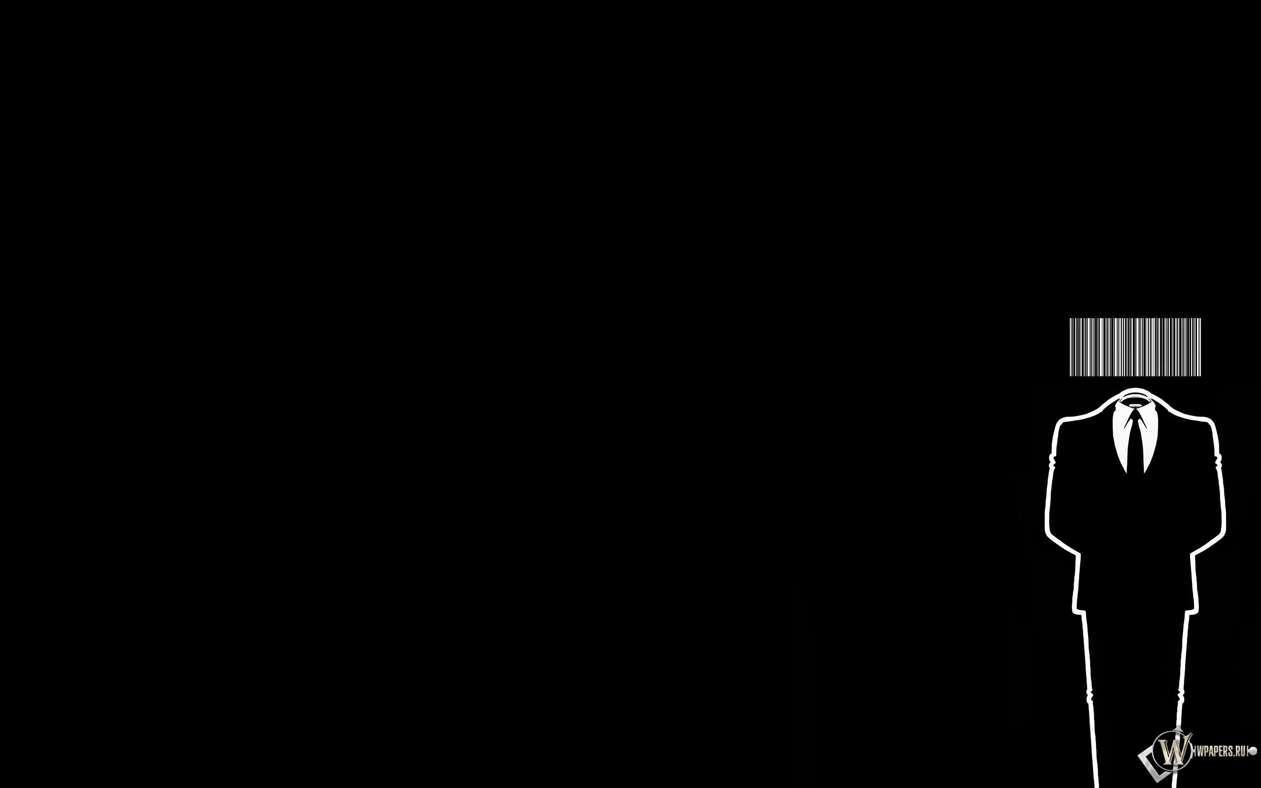 Человек-штрихкод 2560x1600