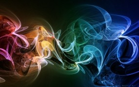 Обои Радужный дым: Цвета, Дым, Абстракции