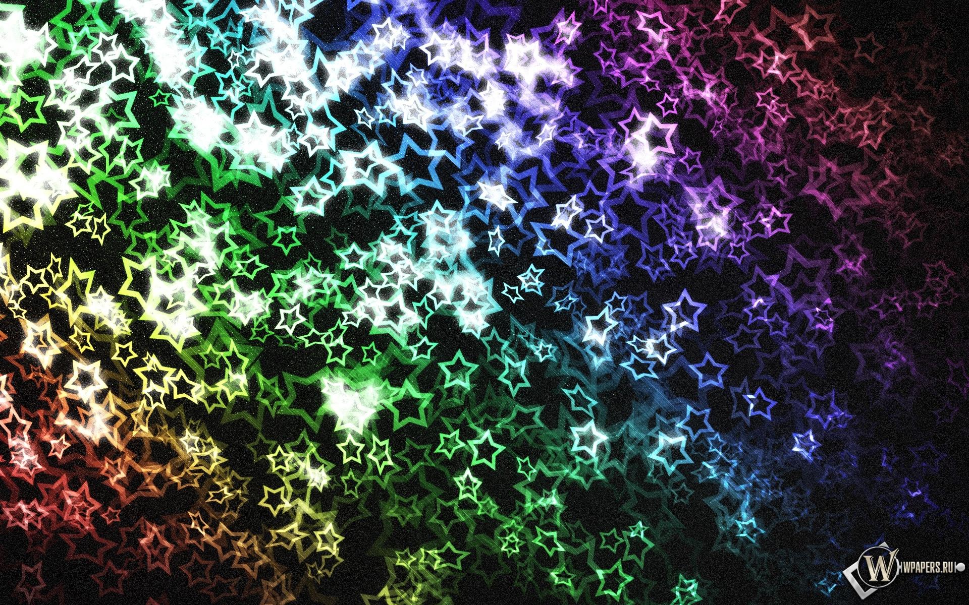 Разноцветные звёзды 1920x1200