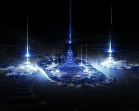Обои Фракталы: Фракталы, Синий, Чёрный, Абстракции