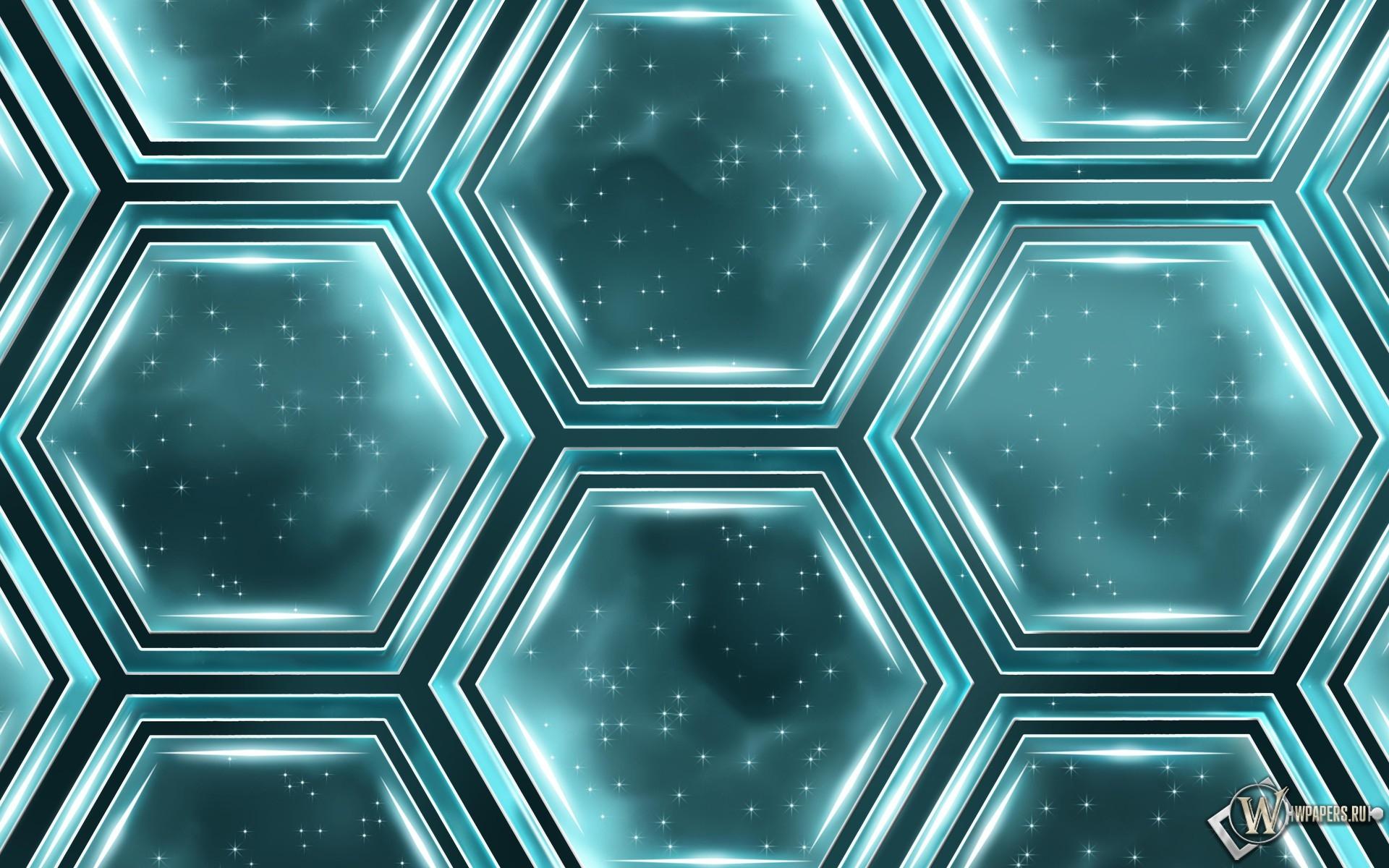 Абстракция шестигранников 1920x1200